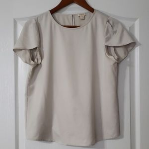 J. Crew Silky Gray Blouse Top